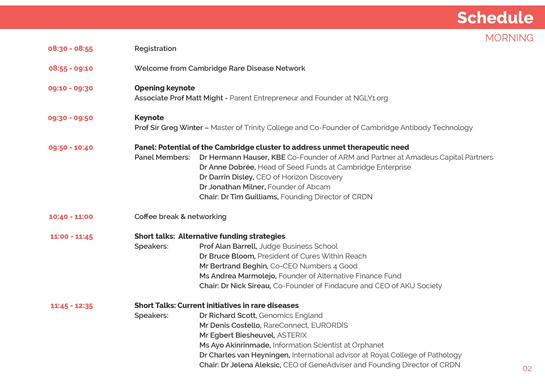 CRDN Summit Programme 2015