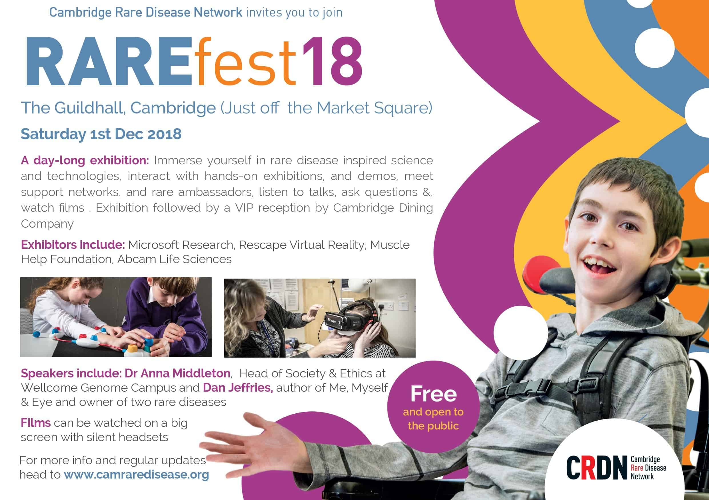 Cambridge Rare Disease Network - RAREfest | The Programme 2