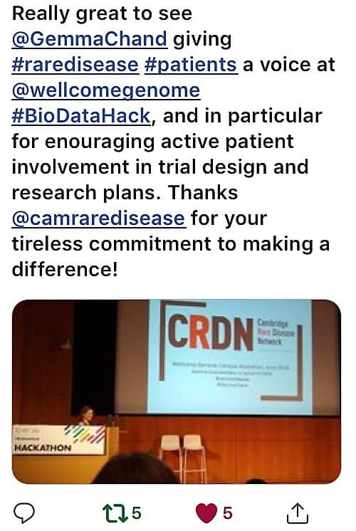 Cambridge Rare Disease Network - CRDN takes part in the Wellcome Genome Campus Hackathon #BioHack 25