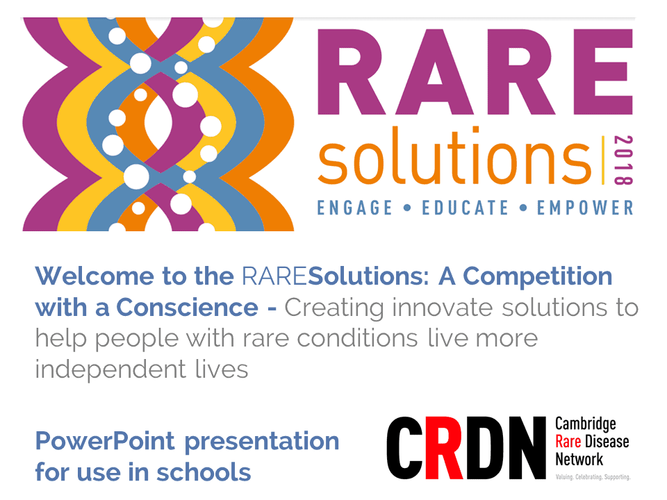 Cambridge Rare Disease Network - RAREfest | RAREsolutions competition 3
