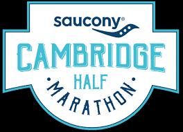 cambridge half marathon logo saucony black background